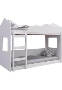Beliche Montessoriano Casinha Branco Completa Móveis