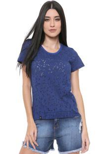 Camiseta Coca-Cola Jeans Devorê Azul