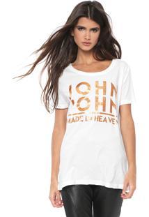 Camiseta John John Logo Branca