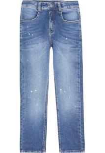 Calça Jeans Infantil Menino Com Respingos Play Jeans Hering Kids