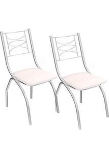 Kit 2 Cadeiras Itália C018 - Kappesberg - Branco