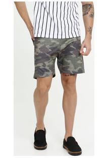 Bermuda Masculina Estampa Camuflada Moletinho
