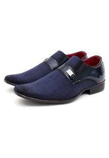 Sapato Social Verniz Fork Azul