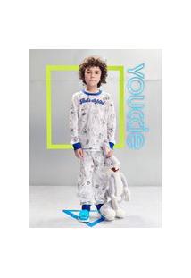 Pijama Infantil Menino Looney Tunes Branco