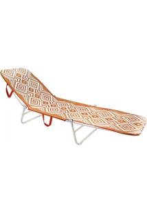 Cadeira Espreguiçadeira Dobrável Mormaii - Laranja - Kanui