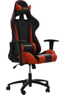 Cadeira De Escritório Gamer Stilo Preto E Vermelho