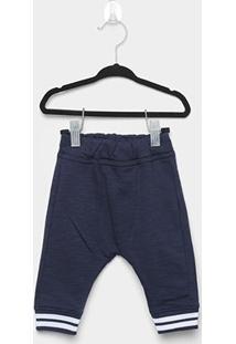 Calça Bebê Milon Moletom Masculina - Masculino-Azul