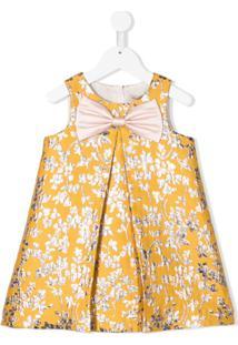 Hucklebones London Vestido Com Brocado Floral - Amarelo