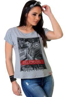 Camiseta Wevans Pinup Delicious Cinza