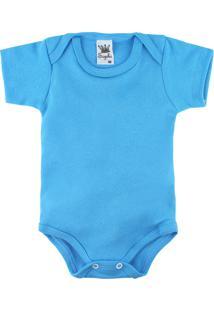 Body Para Bebê Alyaht Básico Turquesa Azul Royal