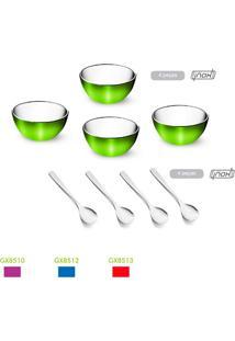 Kit Para Sobremesa 8 Peças Colorinox Gourmet Mix, Feito Em Aço Inox.