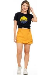 Camiseta Clara Arruda Lisa Feminina - Feminino
