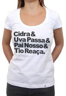 Cidra E Uva Passa - Camiseta Clássica Feminina