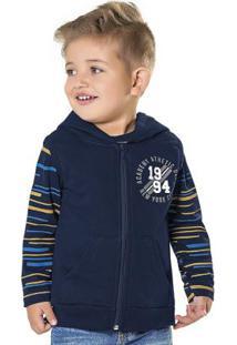 Colete Com Capuz Azul Fakini Kids