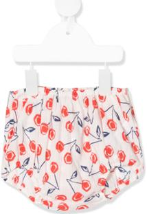 Bonpoint Cherry Print Fitted Shorts - Branco