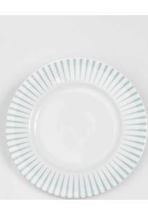 Prato Para Sobremesa Porcelana Schmidt - Dec. Sol Verde Pastel