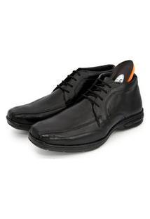 Sapato Social Br2 Footwear Masculino Couro Cano Médio Macio Preto