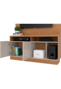 Estante Home Para Tv Até 60 Polegadas 2 Portas Parati Colibri Móveis Natural Real/Off White