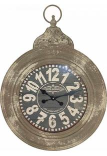 Relógio De Parede Ferro Redondo Oldway 71X52X6