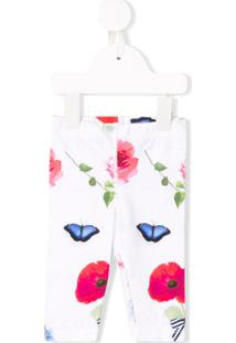 Lapin House Legging Com Estampa Floral - Branco