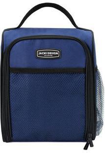 Bolsa Térmica Retangular- Azul & Preta- 19X12X24Cm