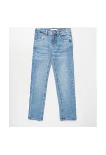 Calça Jeans Infantil Reta Azul Médio
