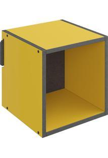Nicho Mov- Amarelo & Cinza Escuro- 29,5X29,5X29,5Cmbentec