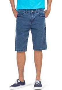 Bermuda Jeans Jogger Dstyer Masculino - Masculino-Azul