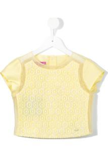 Valmax Kids Blusa Translúcida - Amarelo