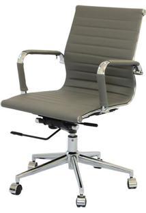 Cadeira Eames Baixa Cinza Base Cromada - 27107 - Sun House