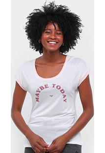 Camiseta Roxy Vintage Maybe Today Feminina - Feminino-Off White