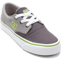 cbcf2c9c6 Tênis Infantil Dc Shoes Flash 2 Tx La Masculino - Masculino-Cinza+Verde