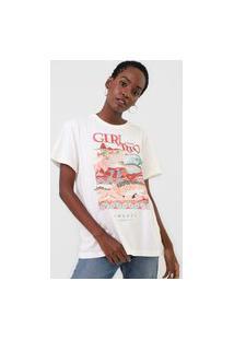 Camiseta Colcci Girl Off-White