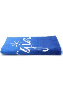 Toalha De Praia Karsten Vibrações 76X150Cm Azul