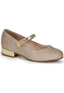 Sapato Infantil Dourado Dourado