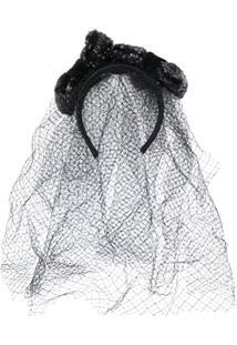 Dolce & Gabbana Headband Com Véu - Preto