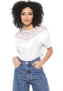 Camiseta Lez A Lez Bandana Franjas Branca