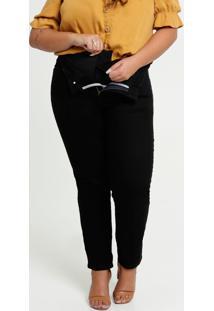 Calça Sarja Feminina Modeladora Plus Size