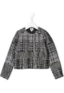 Karl Lagerfeld Kids Jaqueta Curta De Tweed - Preto