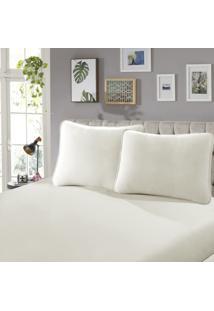 Lençol Com Elástico Casal 30 Confort 1 Peça Branco - Sbx Têxtil