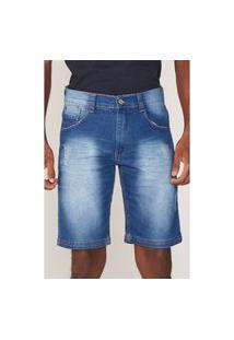 Bermuda Ecko Jeans Slim Confort Azul