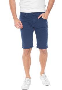Bermuda Sarja Wrangler Slim Color Azul