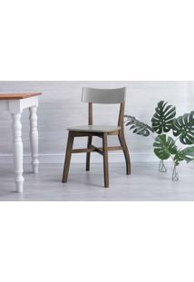 Cadeira De Mesa De Jantar Bella Capuccino E Cinza Concreto 44X51X82 Cm