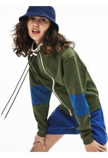 Jaqueta Lacoste Bolso Frontal Feminina - Feminino-Verde+Azul