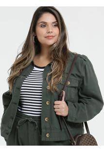 Jaqueta Feminina Sarja Botões Plus Size
