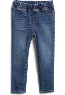Calça Jeans Gap Infantil Skinny Fantastiflex Estonada Azul