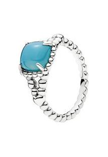 Anel Espírito Vibrante- Prata & Azul Claro- Tamanho Pandora