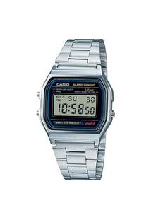 Relógio Digital Casio Vintage Unissex A158Wa-1Df-Sc Prata
