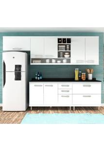 Cozinha Compacta New Vitoria 11 Branco Tx/Bianco - Hecol