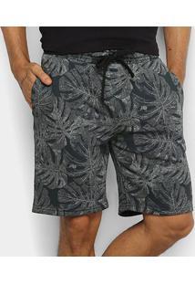 Bermuda Gajang Folhagem Masculina - Masculino-Verde